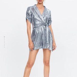 GORGEOUS ZARA NWT Short Sparkly Jumpsuit